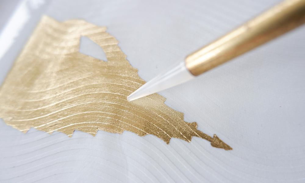 Gold auf Porzellan