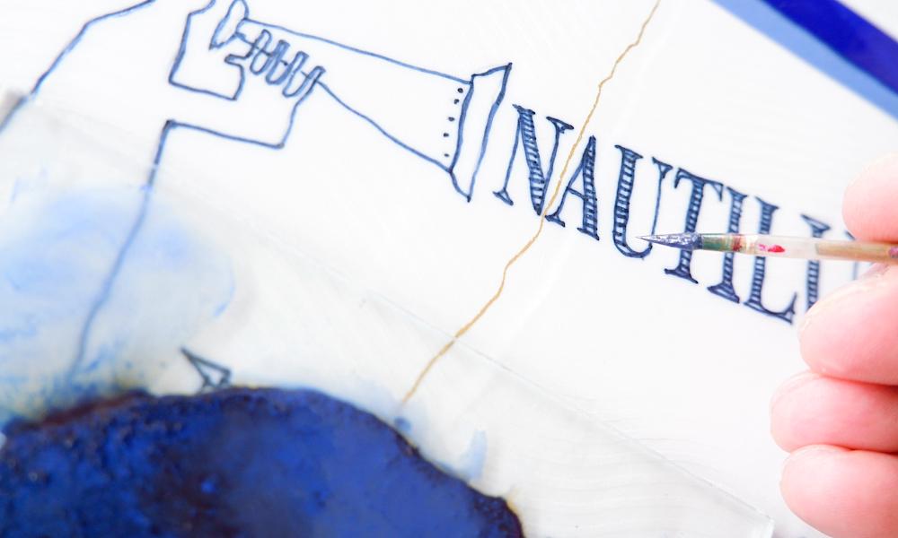 Porzellan Nautilus