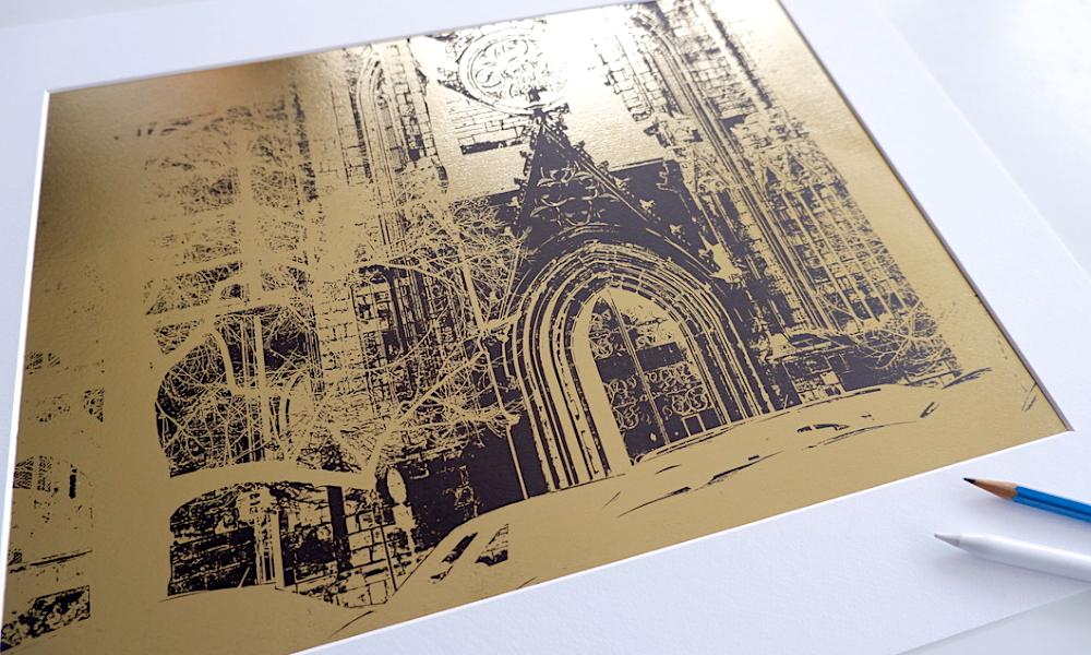 Meißner Druckgrafik – Meißner Dom – Weißes Gold?